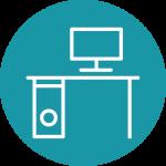 icona computer scrivania