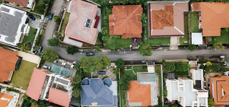 vista dall alto case, quartiere comprare casa