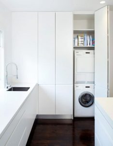 lavanderia in cucina