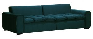 divano velluto verde 3 posti miliboo
