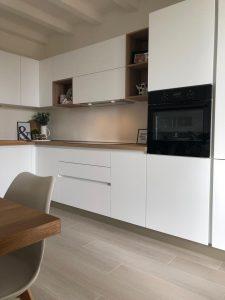 cucina bianca stosa infinity stile nordico