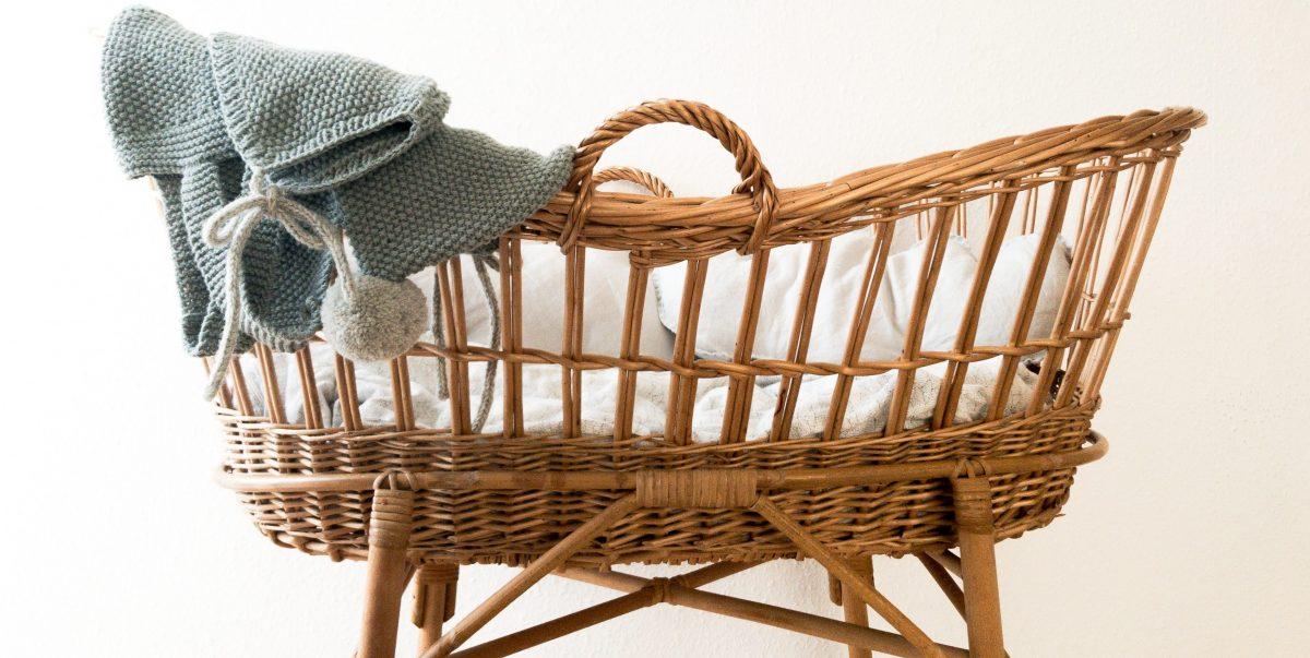 cesta neonato arredamento
