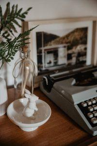 macchina da scrivere arredamento vintage