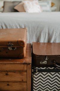 valigie vintage arredamento