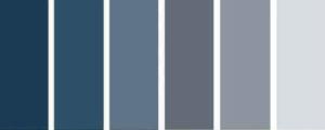 palette colori arredamento blu