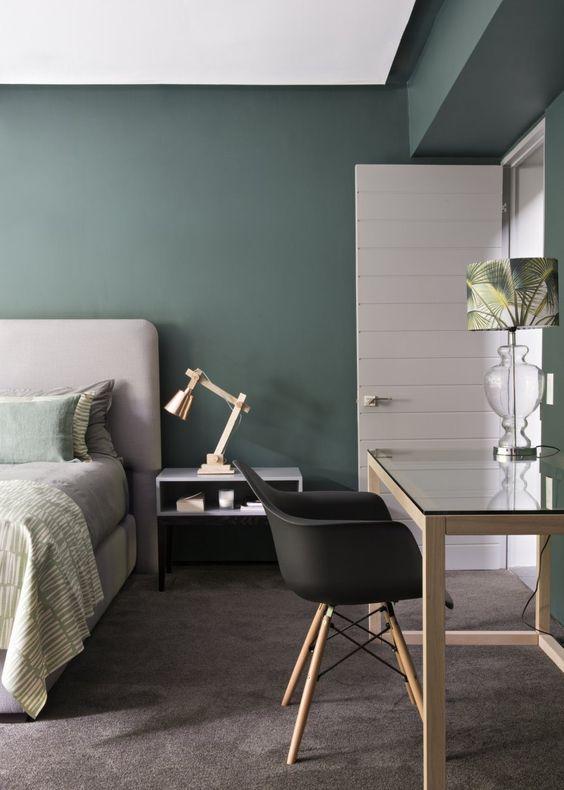 camera letto verde