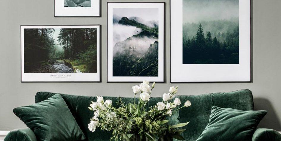 Poster store divano verde