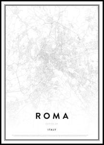 Poster moderni mappa roma