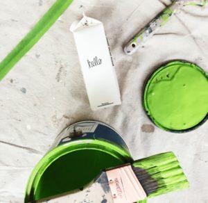 vernice verde ristrutturazione casa