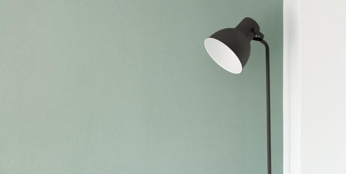 lampada stile nordico parete verde