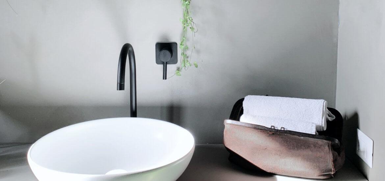 lavabo rubinetteria nera bagno