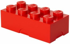 lego lunch box rosso