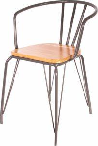 sedia retrò legno ferro