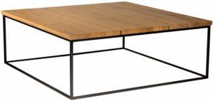 tavolino basso legno metallo