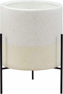vaso bianco ceramica base ferro